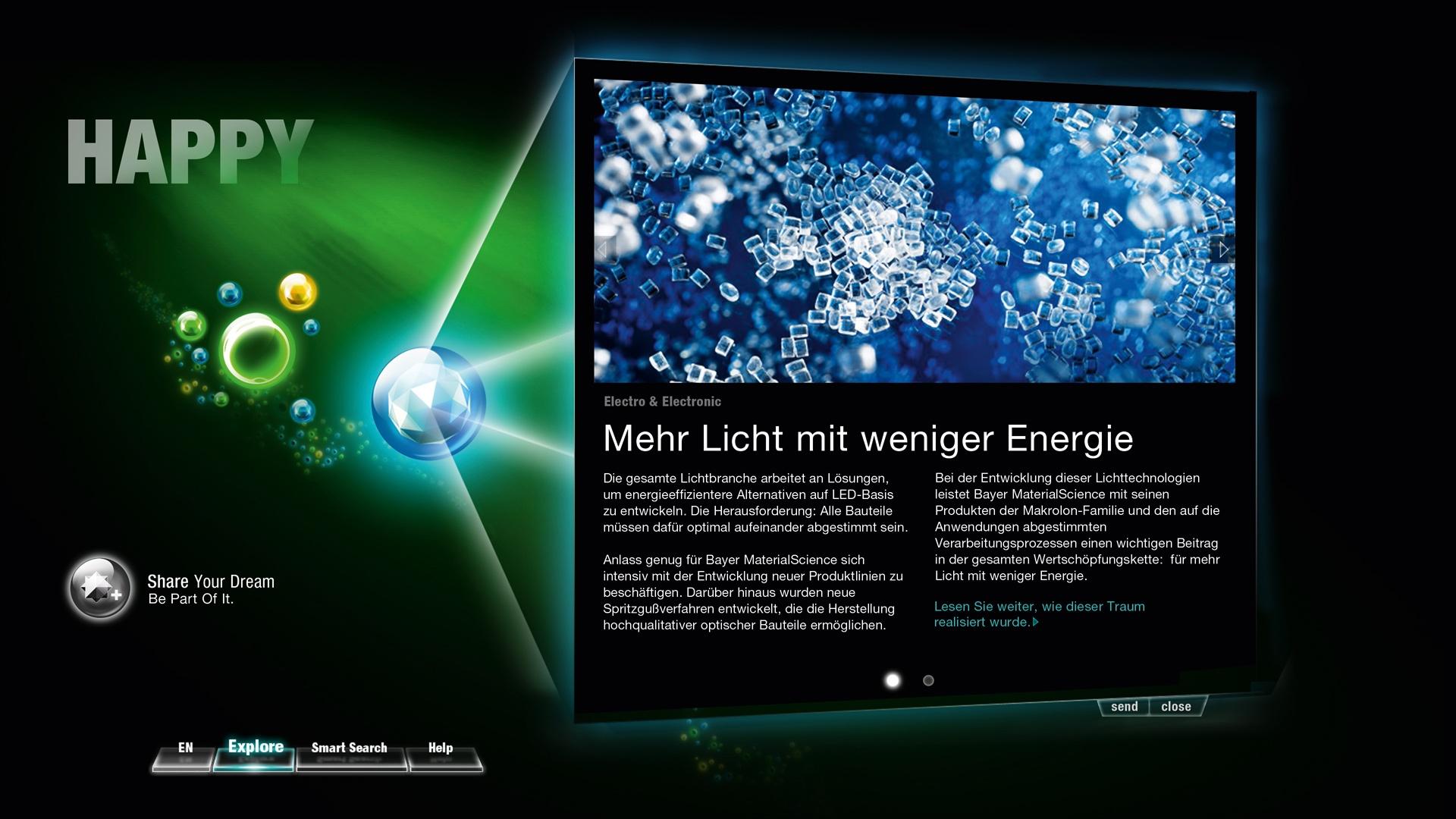 Bayer MaterialScience Messe K interface Design