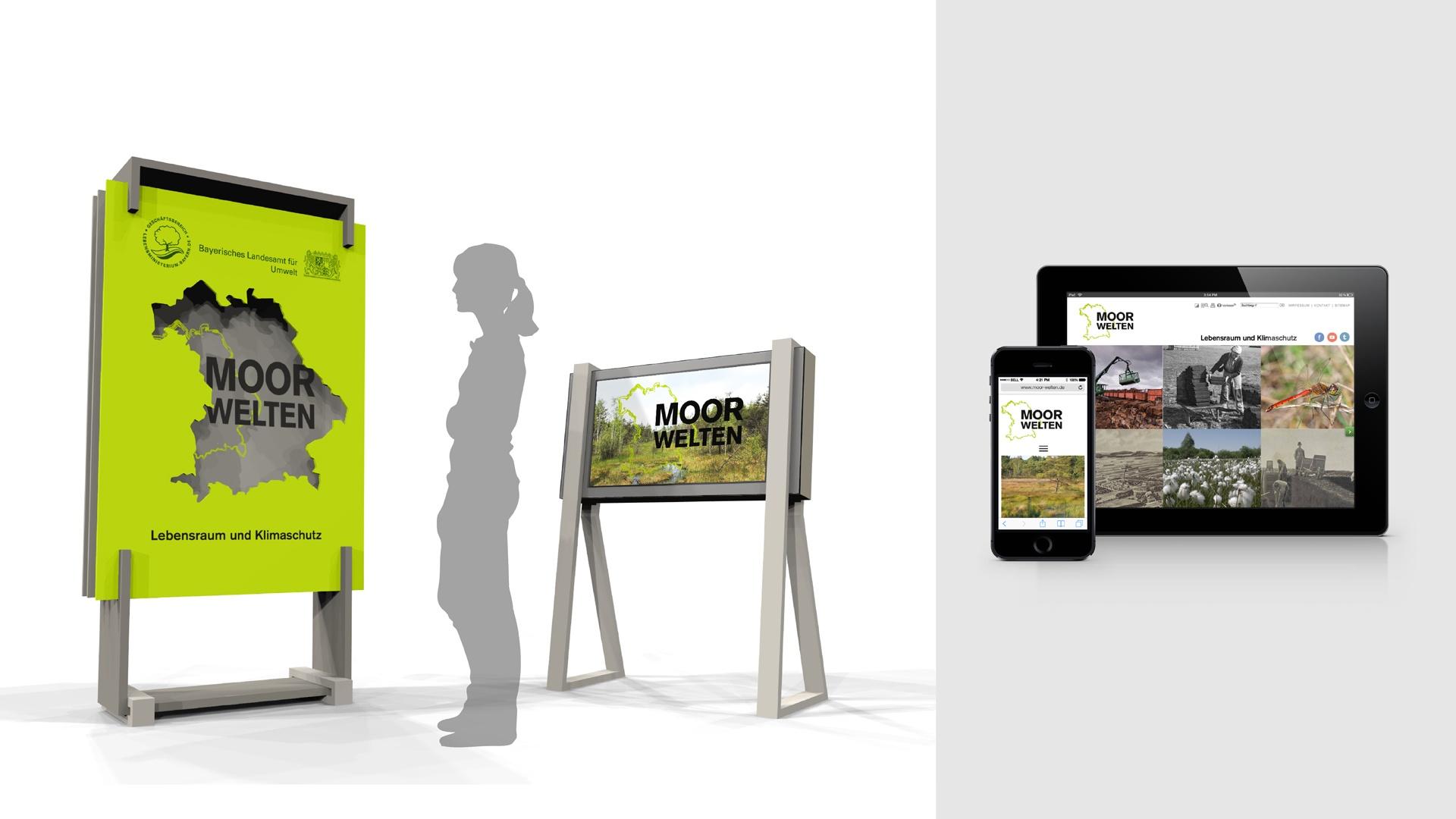 Ausstellungskonzept und Website Moorwelten