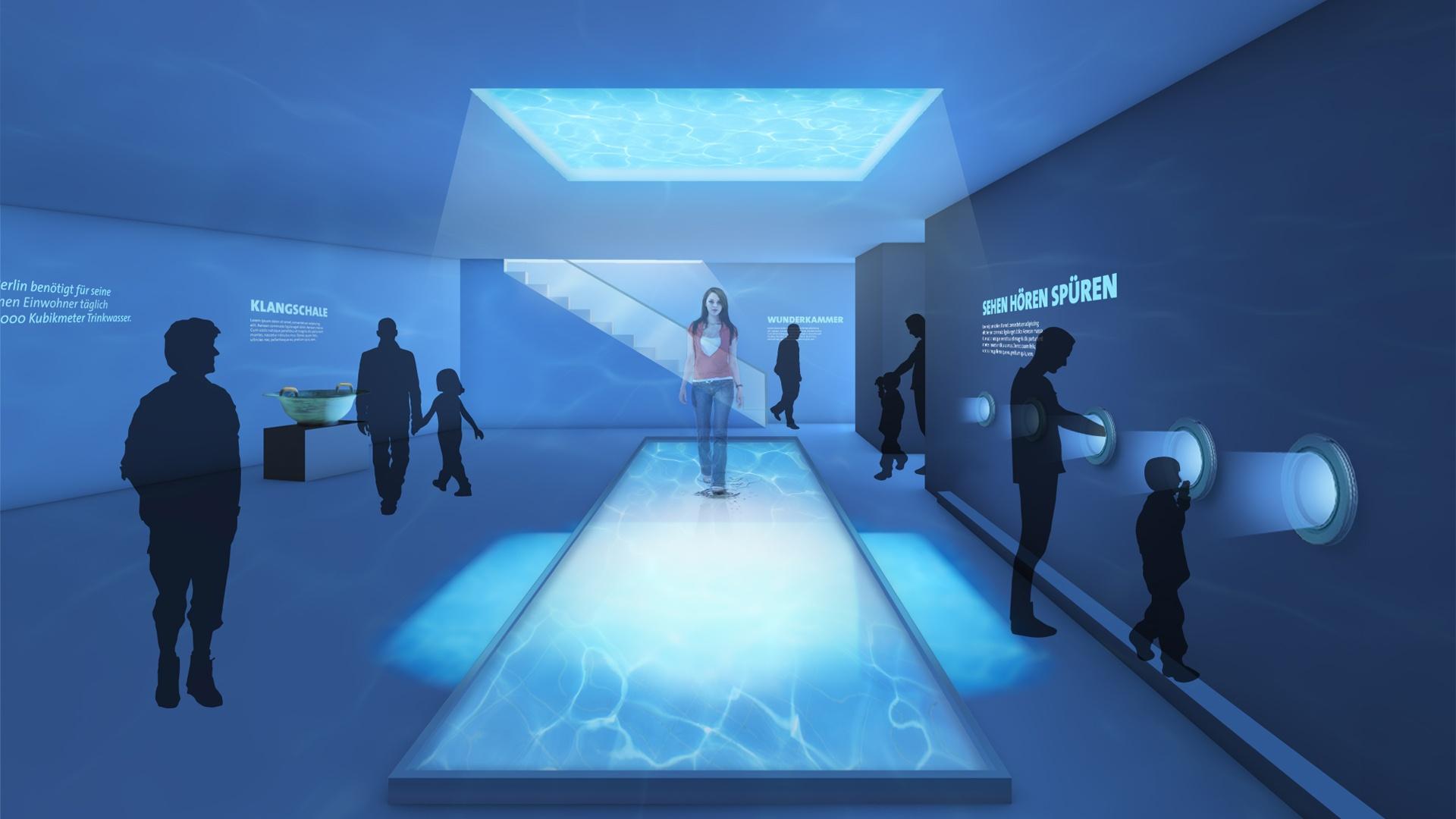 Hologramm Wunderkammer Wasserwelt Berliner Blau