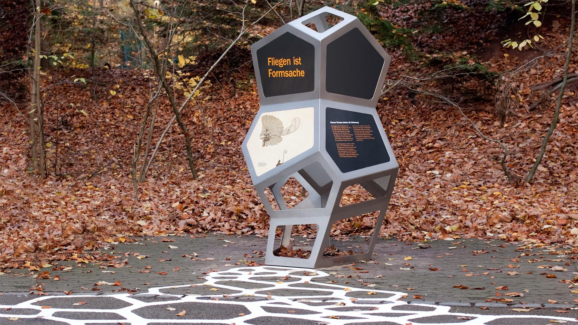 Stele Bionik Tiergarten Nürnberg
