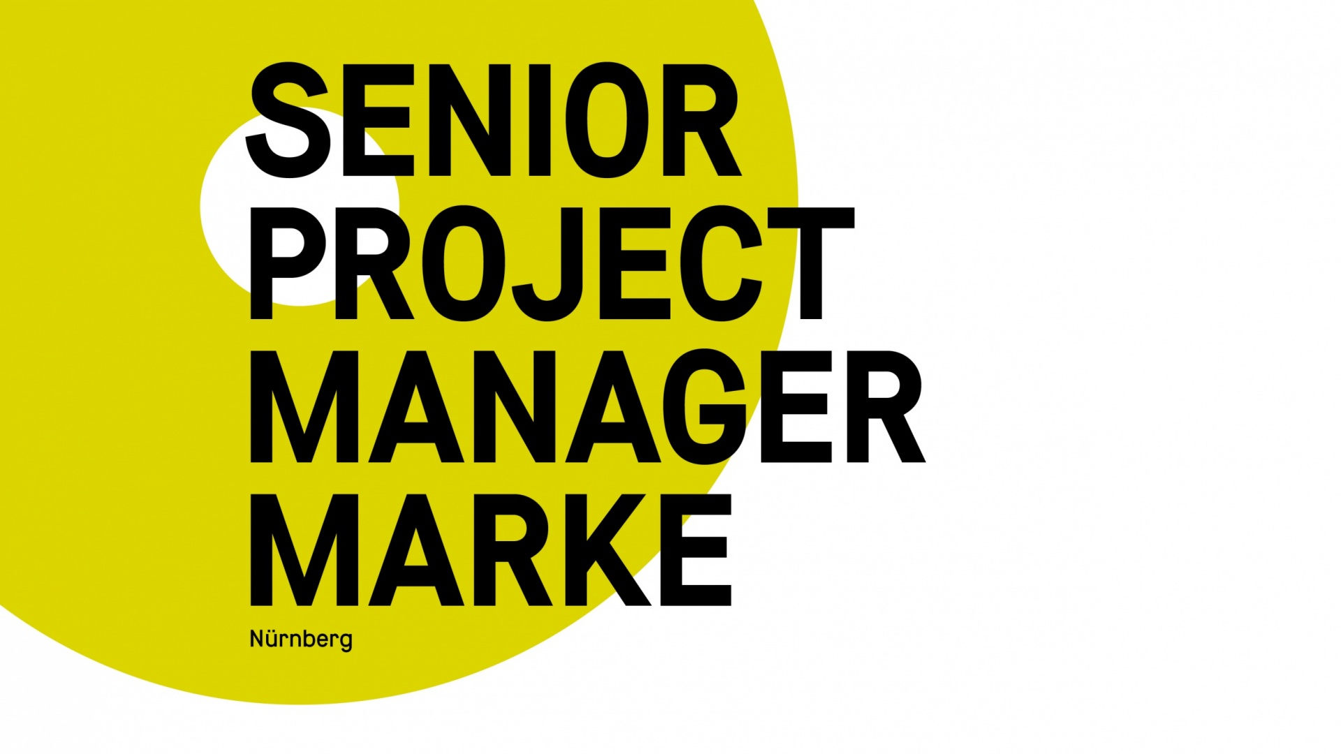 Senior Project Manager Markenkommunikation (m/w/d)