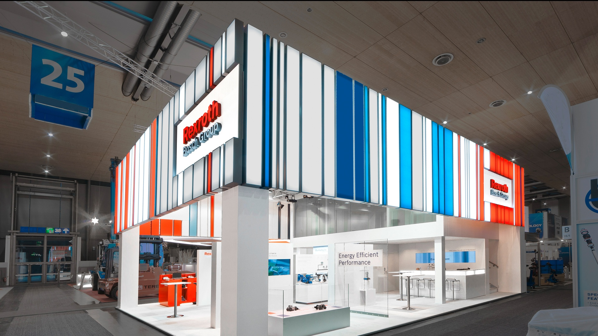 Architektur Bosch Rexroth CeMAT Messe
