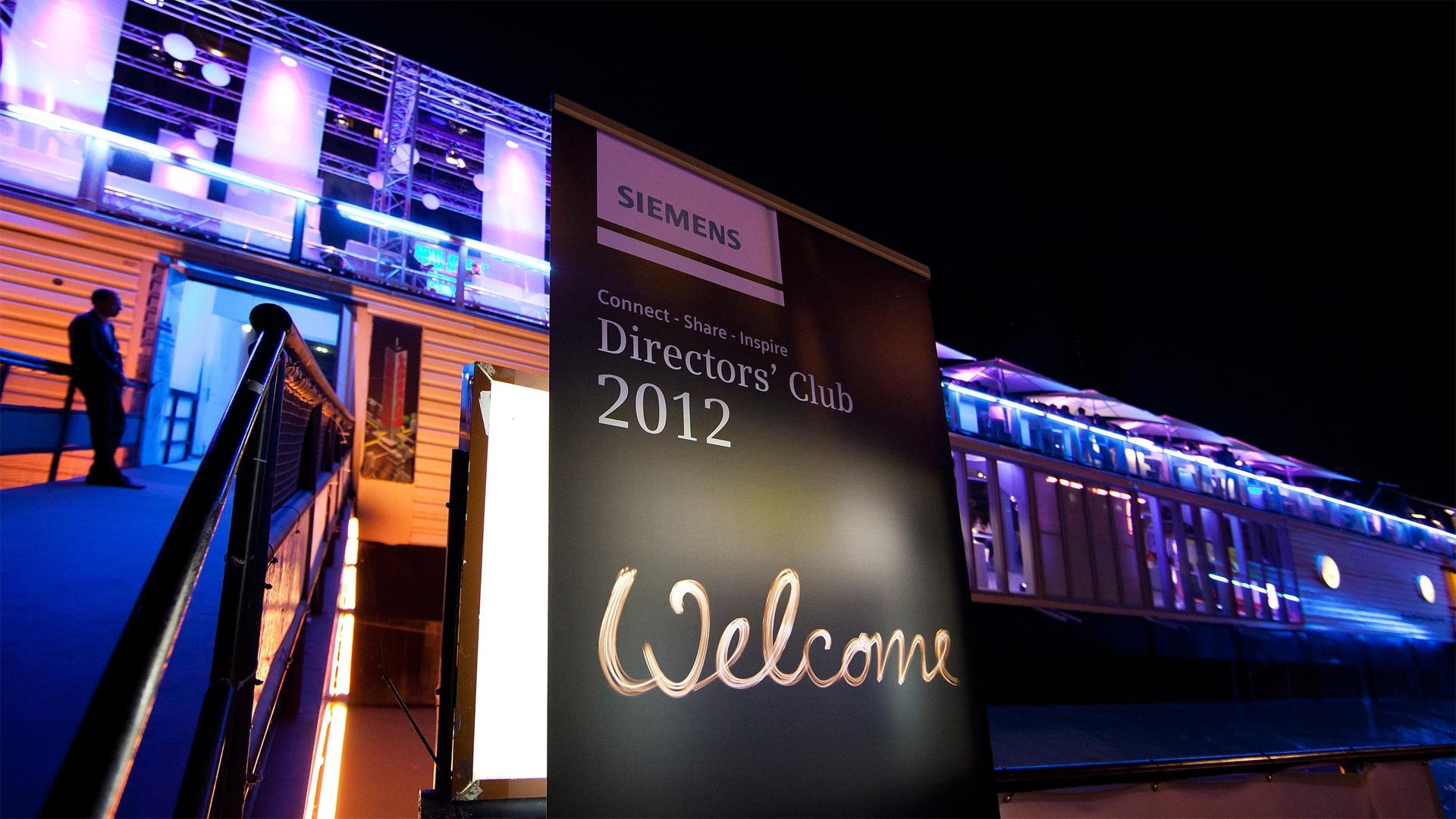Siemens Directors' Club Wien Typografie