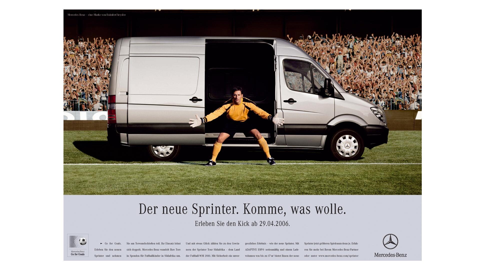 Daimler Anzeige Go for Goals
