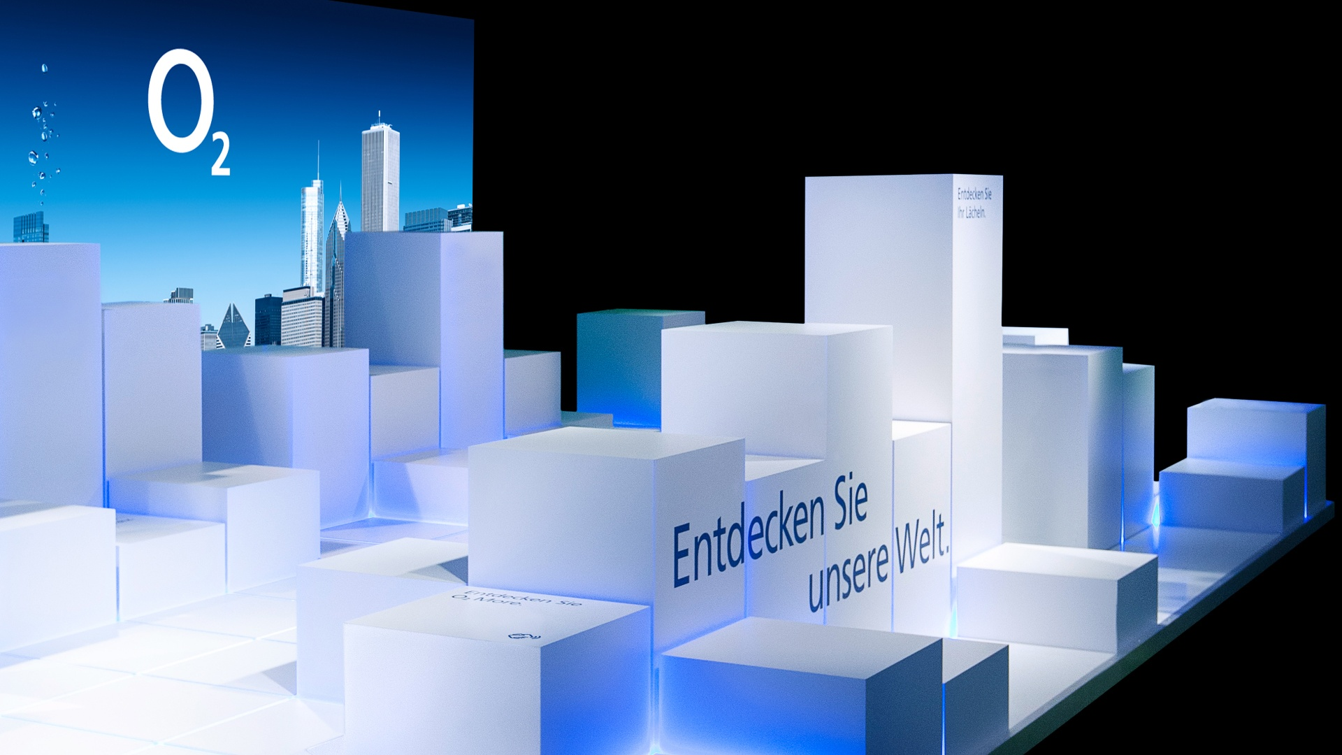 Telefónica Germany modularer Erlebnis-Raum