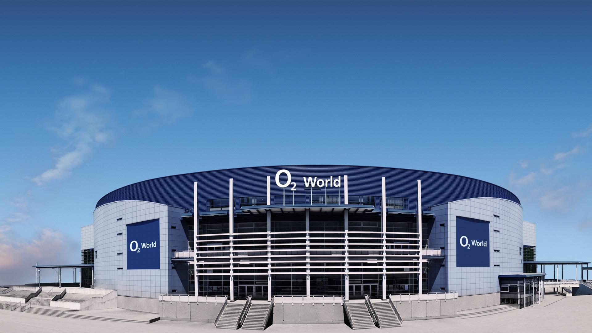 Markenpräsenz o2 World in Hamburg