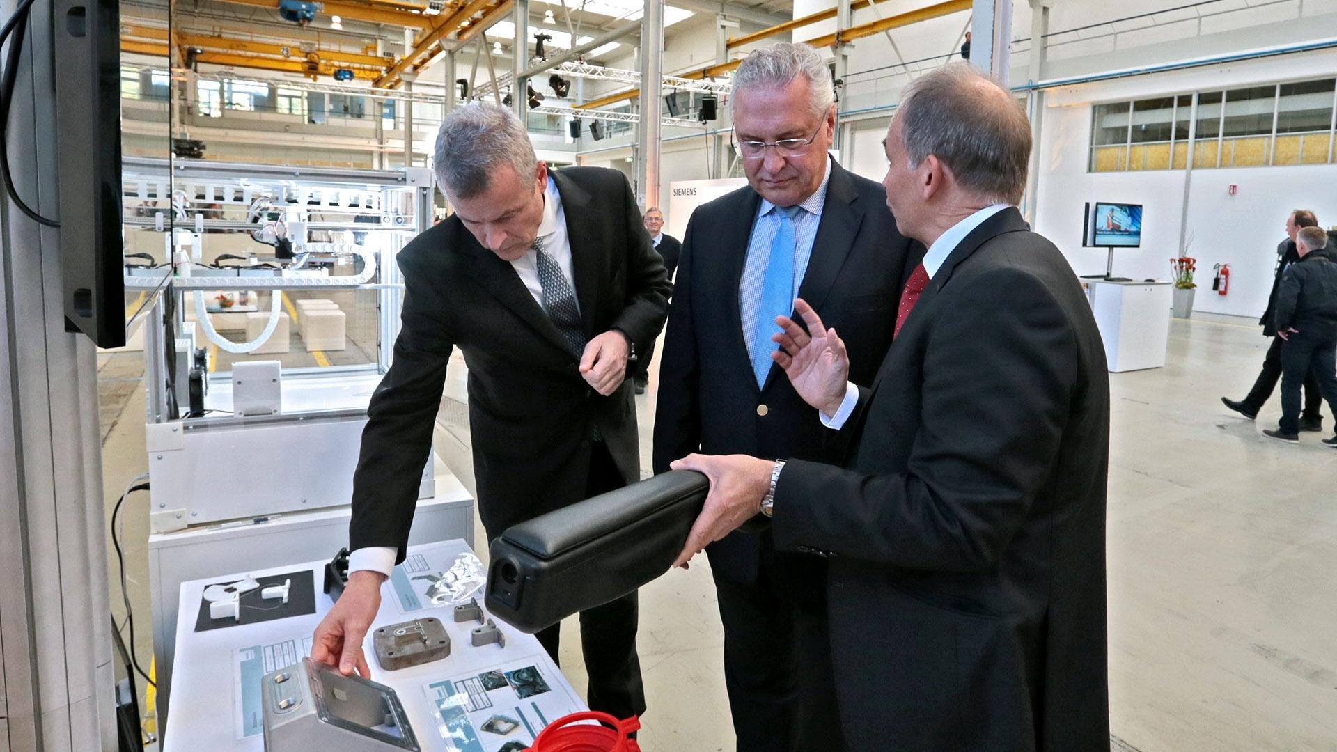 Eröffnungsevent Rail Service Center Innenminister Herrmann